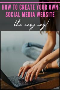 How to create a social media website
