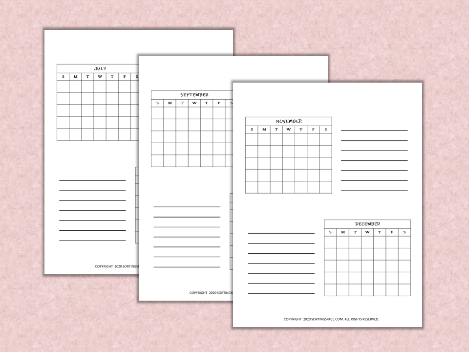 Semester Overview Free Printables