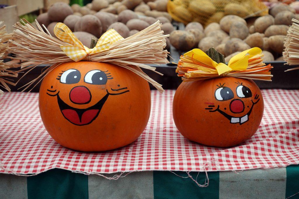 Fall activity paint a pumpkin